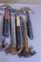 9pc Carpenter's Claw Hammers