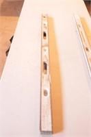 2pc Johnson & Unmarked 4' Brass Edge Level