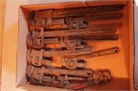 9pc Vintage Pipe Wrenches
