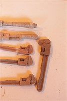 7pc Vintage Monkey & Adjustable Wrenches