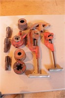 10pc Rigid, Superior & Toledo Pipe Threading Tools