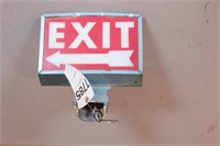 """Post Mount Lighted """"EXIT"""" Sign"""