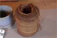 Copper Bowl, Twine Spool & Minnow Bucket