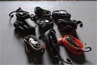 assortment of small ratchet straps