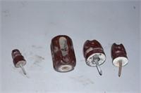 antique brown ceramic insulators