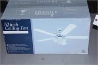 "NIB 52"" Ceiling Fan"