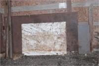 steel bars, beams, sheeting etc