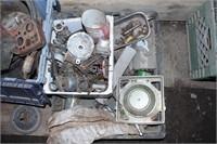 Small engine repair parts, carburetors and assorte