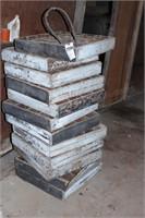16 compartment wooden crates