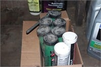 oil, washer fluid, grease, etc