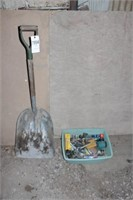aluminum scoop shovel and lawn sprinklers