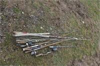fishing poles & frog spear
