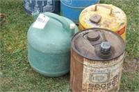 vintage oil & kerosene cans