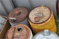 metal gas cans