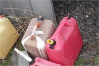 gas cans & funnel