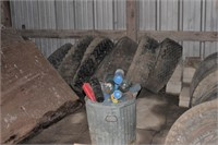 contents of lean-to in northwest barn.