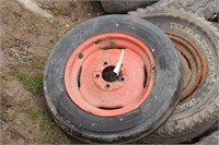 5pc tractor & implement tires & rims