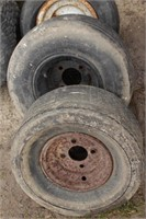 10pc lawn tractor front tires and rims