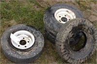 4pc 5.70/5.00-s tires and 5 bolt rims