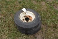2pc 4.80-8 tires on 5 bolt rims