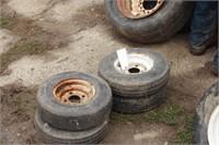 4pc 4.80-8 tires on 4 bolt rims