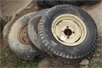 3pc implement tires & rims