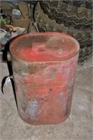 Vintage metal fuel tank