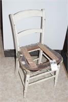 Farmhouse Style Cane Seat Chair