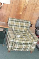 Retro Livingston MFG Co Green Plaid Armchair