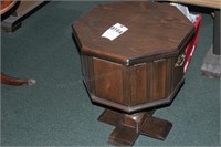Pine Octagon End Table w/ Storage