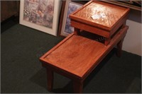 2 Tiered Oak End Table