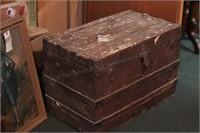 Wood Trunk w/ Decorative Latch