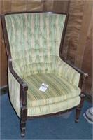 Vintage Curved Back Upholstered Chair