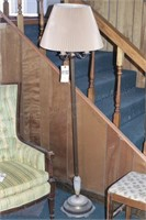 Vintage Marble & Brass Floor Lamp w/Glass Diffuser