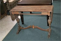 Walnut Drop Leaf Hall Table / Side Board