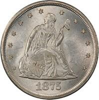20C 1875-CC PCGS MS65+ CAC