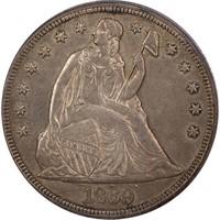 $1 1869 PCGS AU55 CAC