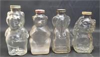 Lot of 4 vintage coin jars