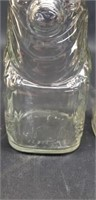 Lot of 3 vintage glass coin jars