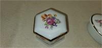 7 Small Ceramic, Stone, Crystal Trinket Boxes