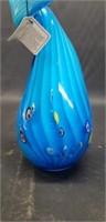 Beautiful blue murano glassware decor