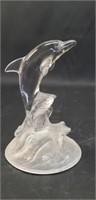 Beautiful glass dolphin decor