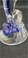 Beautiful blue murano style dolphin decor