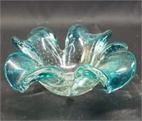 Beautiful light blue murano candy dish