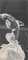 Beautiful crystal dolphin decor