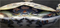 Beautiful flow blue soup tourem