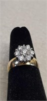 Stunning 14k Yellow Gold CZ Ring size 5.5