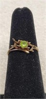 10k Yellow Gold Ring with Peridot Stone AS IS