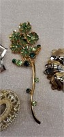 Estate Lot of 13 Beautiful Misc Broach Pins