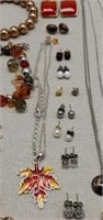 Estate Lot of Earrings, Necklaces, Pins, Watches